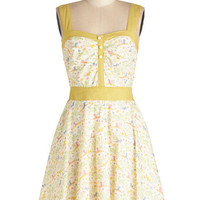 ModCloth Critters Mid-length Sleeveless A-line Puppies at Play Dress