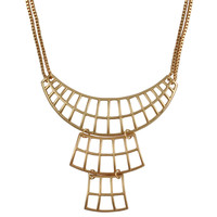 Golden Necklace Fashion Hollow Metal Jewelry Bib Short Chain  Necklaces
