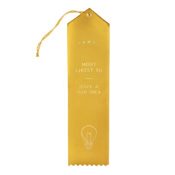Bad Idea Award Ribbon