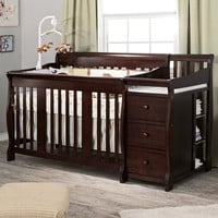 StorkCraft Portofino Crib & Changer Combo in Espresso