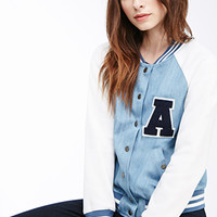 Denim Varsity Jacket
