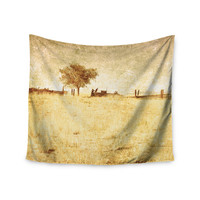 """Sylvia Coomes """"One Tree"""" Brown Tan Wall Tapestry"""