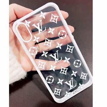 LV Louis Vuitton Women Men Print Transparent iPhone Phone Cover Case For 7 7plus 8 8plus iPhone 11 iPhone X XR XS XS MAX PRO MAX