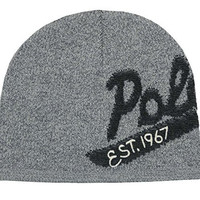 Polo Ralph Lauren Men's Polo Wool Cap (One size, Grey/Charcoal)
