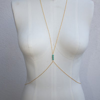 Turquoise Beaded Body Chain