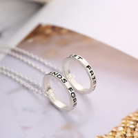 Engraved Best Friends Forever Circle Pendant Necklaces