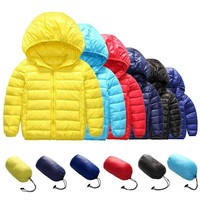 2018 8 Colors Kids Winter Sports White Duck Down Jacket Children's Warm Down Jackets Boy Girl Sports Hooded Outerwear Tracksuit