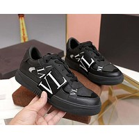 VALENTINO Men Fashion Boots fashionable Casual leather Breathable Sneakers Running Shoes-13