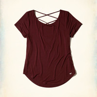 Girls Strappy Back Easy T-Shirt | Girls New Arrivals | HollisterCo.com