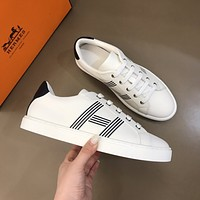 HERMES 2021Men Fashion Boots fashionable Casual leather Breathable Sneakers Running Shoes07210yph