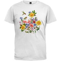 Sunflowers and Hummers White T-Shirt