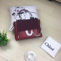 Chloe Women Leather Shoulder Bag Satchel Tote Bag Handbag Shopping Leather Tote Crossbody Satchel Shouder Bag