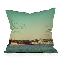 Happee Monkee Love Laugh Live Stockholm Throw Pillow