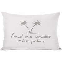 """""""Find Me Under The Palms"""" Indoor Throw Pillow by OneBellaCasa, 14""""x20"""""""