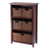 Milan 6 Piece Cabinet/Shelf & Baskets