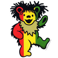 Grateful Dead - Dancing Rasta Bear Bumper Sticker on Sale for $2.99 at HippieShop.com
