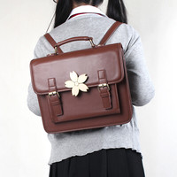 Students cute uniform cherry blossom backpack