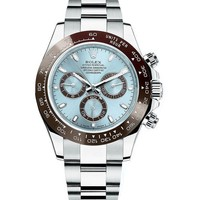 GONG6 Rolex Cosmograph Daytona Ice Blue Dial Platinum Mens Watch 116506