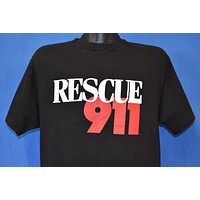 80s Rescue 911 Reality TV Show t-shirt Large