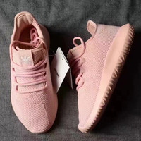 Women Adidas Originals Fashion Tubular Pink Leisure Running Sports Shoes