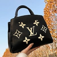 LV Louis Vuitton women's canvas handbag handbag shoulder bag