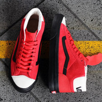 VANS  Red and white classic high pair casual shoes