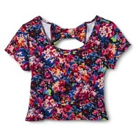 Xhilaration® Junior's Bow Back Cropped Tee - Assorted Colors