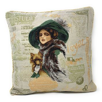 Tache Puppy Day Out Tapestry Throw Pillow Cushion Cover (CC-1354)