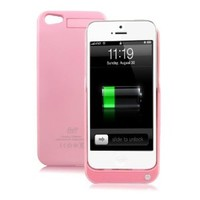 GREENERY*/ HIGH QUALITY External Backup Rechargeable Extended Battery Charger Case for iPhone 5 Mobile Phone,iPhone 5 Portable Power Bank/Multi-color Available(Compatible with iOS7) (Pink, 2200mah)