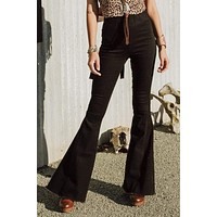 Janis Bell Bottom Jeans - Black