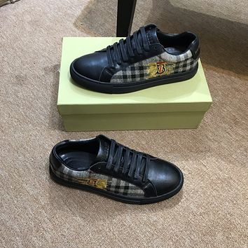 Burberry2021Men Fashion Boots fashionable Casual leather Breathable Sneakers Running Shoes09010yph