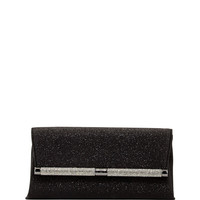 440 Glitter Envelope Clutch Bag, Deep Black - Diane Von Furstenberg