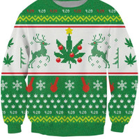 Christmas In The Clouds 420 Ugly Sweater