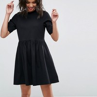 ASOS Mini Ultimate Cotton Smock Dress at asos.com