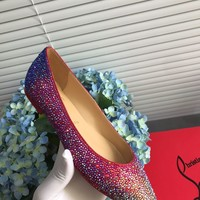 Hot Christian Louboutin Cl Kate Strass Flats Reference #2109