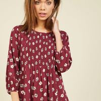 It's a Shirred Thing Floral Top