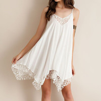 Hot 2016 New Women Ladies Sexy V Neck Asymmetrical Lace Patchwork Chiffon Dresses Boho Casual Loose Beach Sun Dress For Party Z1