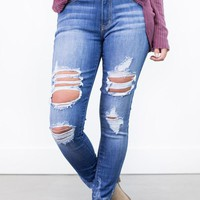 Peggy Ultra-Destroyed Skinny Jeans