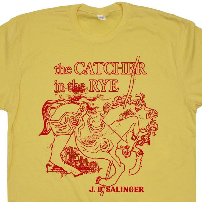 Image of The Catcher In The Rye T Shirt Catcher in the Rye Shirt Cool Book Shirts Literary Tee