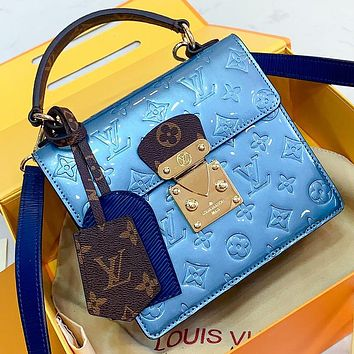 LV New fashion monogram print leather high quality shoulder bag crossbody bag handbag