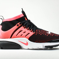 Nike Men's Air Presto Ultra Flyknit Black Bright Crimson