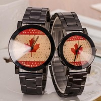 Designer's Gift Good Price New Arrival Great Deal Awesome Trendy Korean Fashion Couple Stylish Stainless Steel Band Strong Character Watch [6542364739]