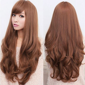 New style Fashion Long Curly Wavy Wigs Cosplay women's Girl Hair Full Wig Party = 1946701828