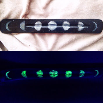 Glow-in-the-Dark Moon Phase Incense Burner