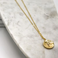 CZ Crystal Initial Necklace
