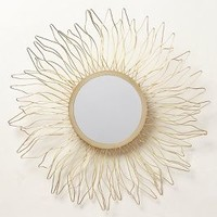 Queen Anne's Lace Mirror by Anthropologie Gold One Size Wall Decor