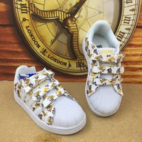 Adidas Girls Boys Children Baby Toddler Kids Child Breathable Sneakers Sport Shoe-37