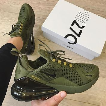 NIKE AIR MAX 270 TRIPLE OLIVE MEN SHOES