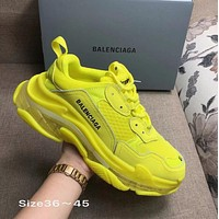 YELLOW BOLD BALENCIAGA COLLECTIBLE SNEAKERS SHOES FOR WOMEN MEN GIFT