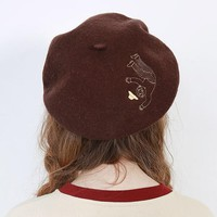 The Fallen Grandpa Wool Beret